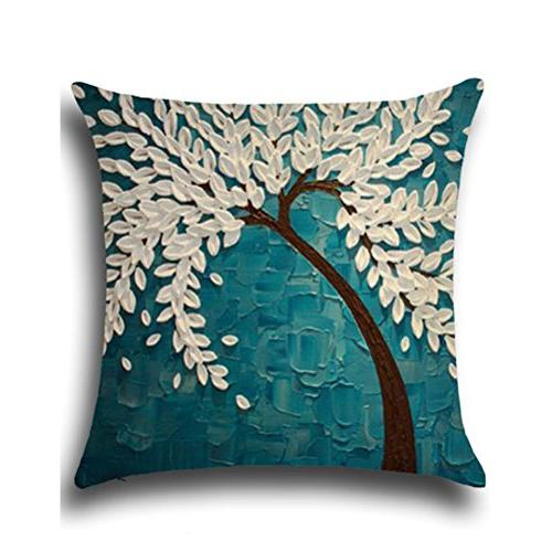 ULOVE Linen Oil Painting Home 18 X Pillow 4Pack Multicolor Trees