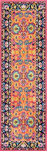 "NuLoom Country & Floral Runner Area Rug 2'5""x8' in Pink Colo"
