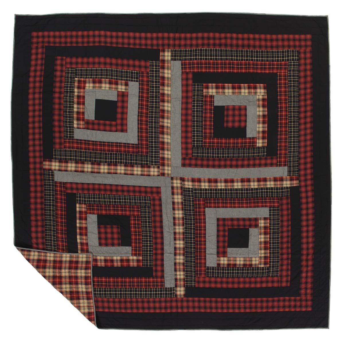 CUMBERLAND QUILT & accessories-Log Cabin Red Brands