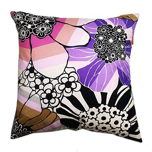 cushion cover sally floral purple