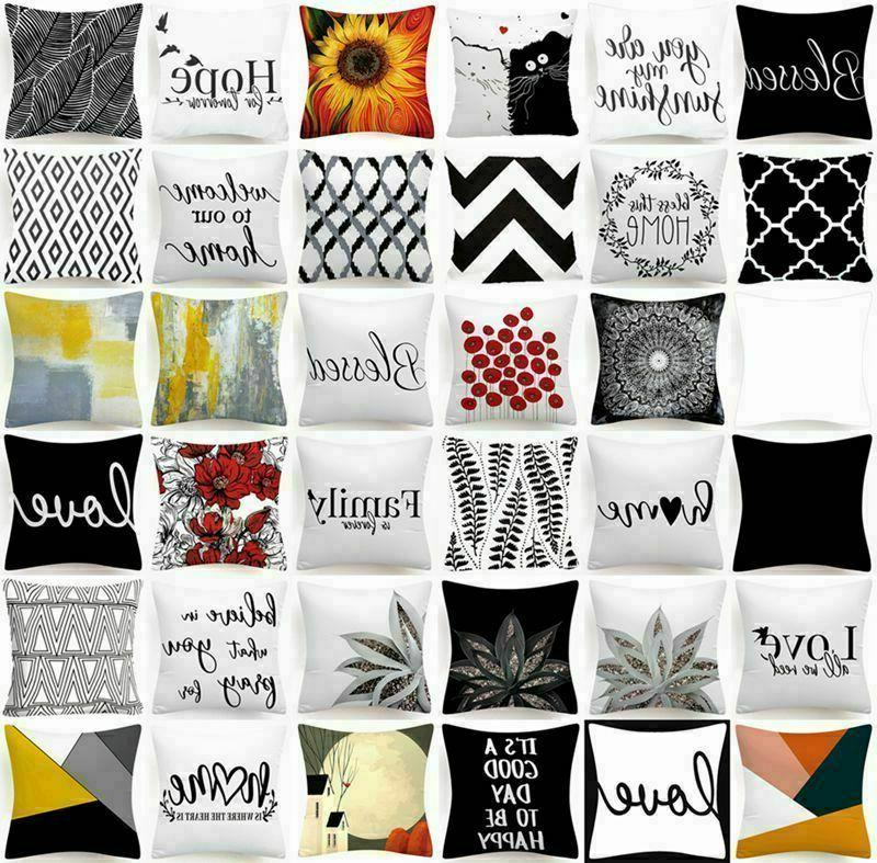 cushion cover white black home decor 2