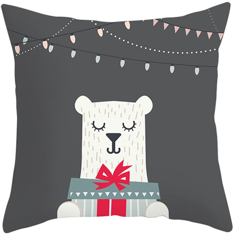 Fuwatacchi Cute Animal Cushion Cover Cartoon Christmas Style <font><b>Pillow</b></font> <font><b>Home</b></font> Sofa Car <font><b>Decorative</b></font> <font><b>Throw</b></font> Pillowcase
