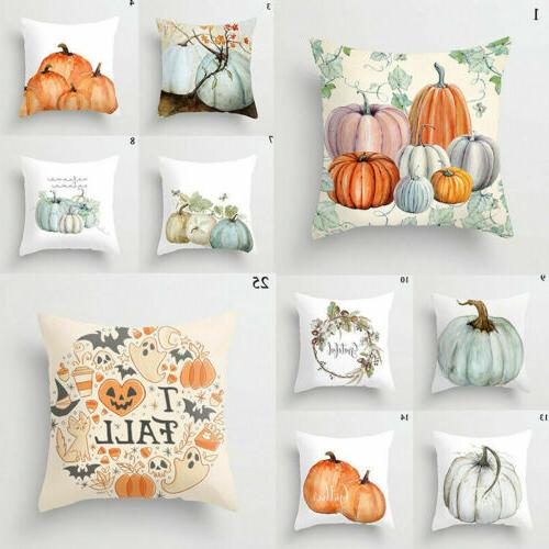 Cute Fall Halloween Pumpkin Pillow Waist Cushion Case Decor