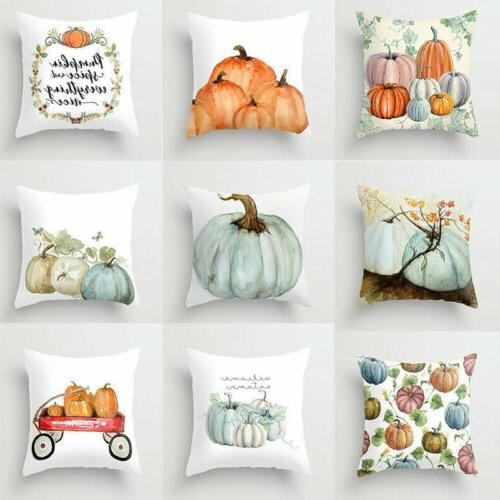 Cute Fall Halloween Pumpkin Pillow Waist Throw Cushion Decor