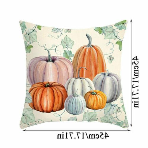 Cute Fall Halloween Pumpkin Pillow Throw Cushion Decor