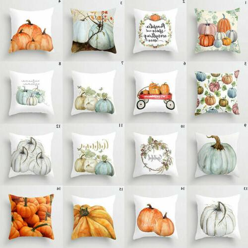 cute fall halloween pumpkin pillow case waist