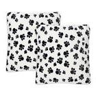 Sweet Home Collection Dalmatian Paw Print Plush Faux Fur Thr