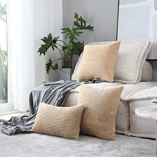 Soft Square Throw Pillow Cushion Cover for 18 x Taupe