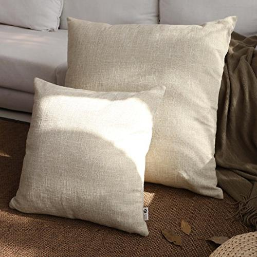 decor lined linen pillow cover