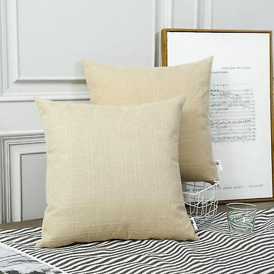 Kevin Textile Style Linen Throw Pillow Cases Cushion