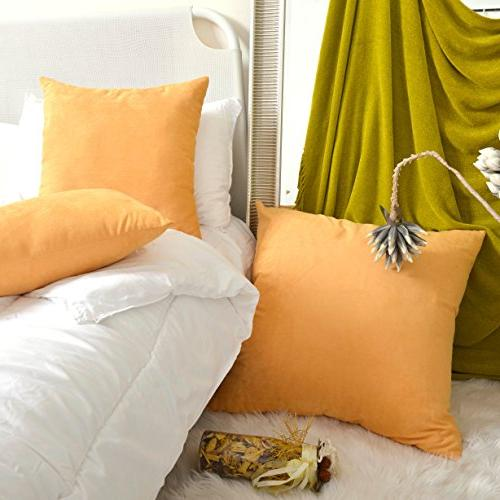 "Kevin Decorative Cover Suede Pillow Cover Square Pillowcase, 18"" x"