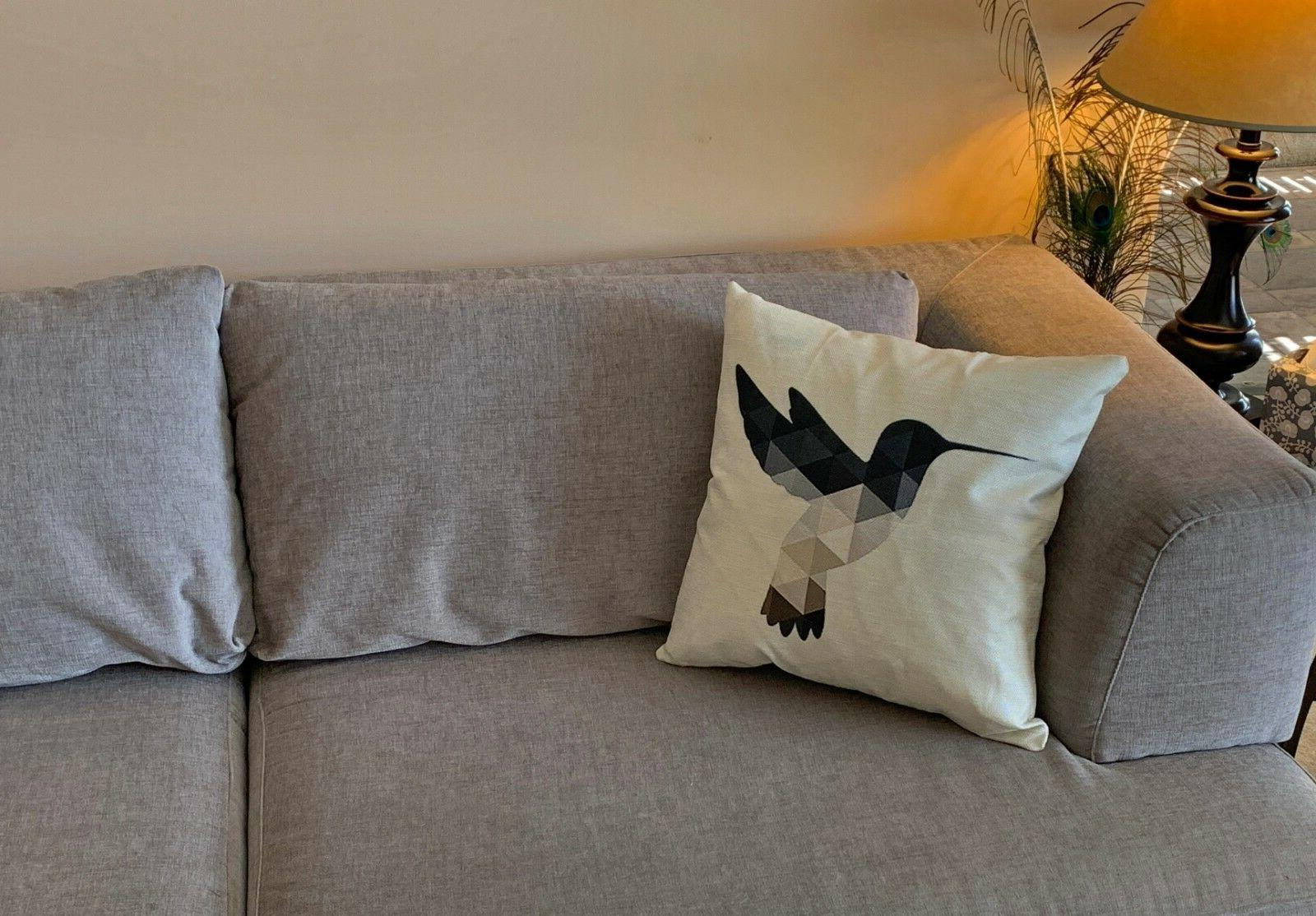 decorative humming bird throw pillow cushion cover
