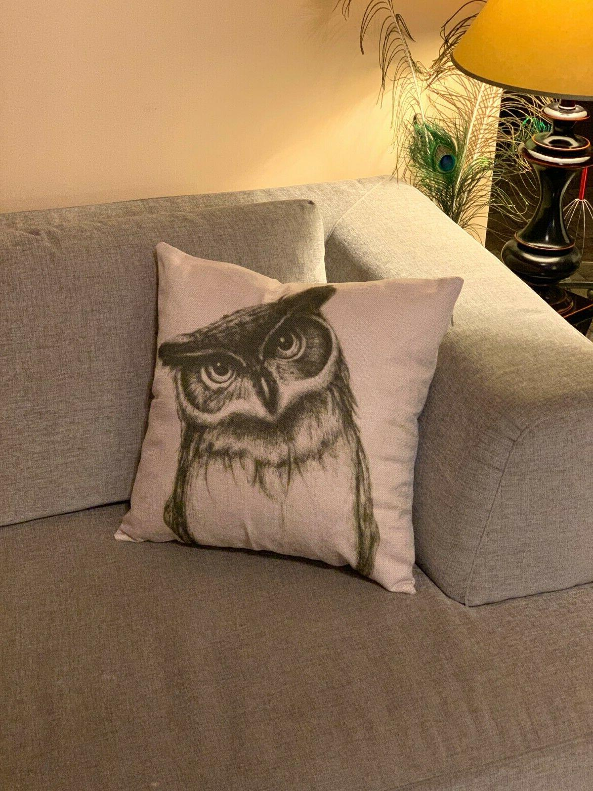 Decorative Owl Cushion Cover Case in.