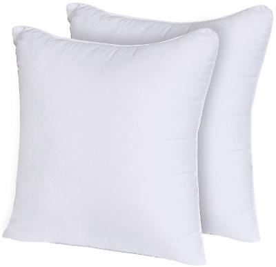 decorative pillow insert 2 pack square 18x18