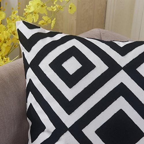 Home Decorative Embroidery Throw Pillow Bed Pattern, cm, and