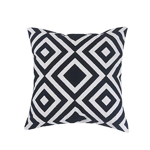 Home Brilliant Square Bed Cushion Pattern, 45x45 cm, and White