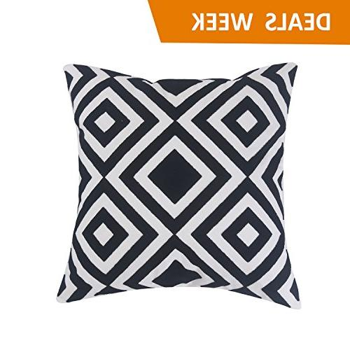 decorative square embroidery throw pillow