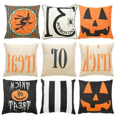 Decorative Halloween Trick Or Treat Cushion Cover