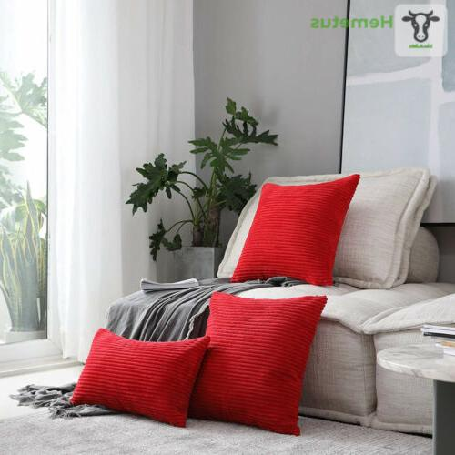 """HOME BRILLIANT Pillow Covers Packs, 18"""" x 18"""","""