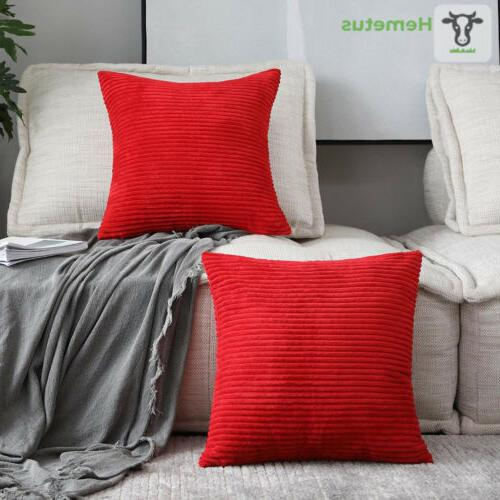 decorative throw pillow covers 2 packs 18