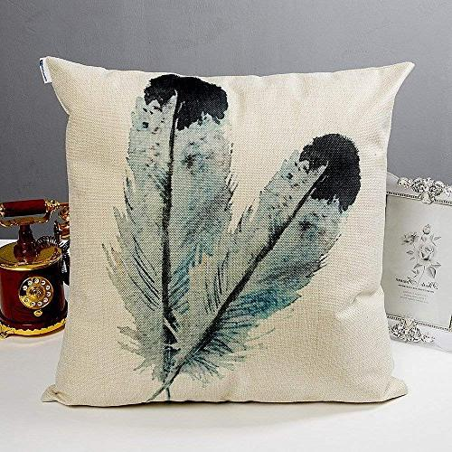 Anickal Decorative Throw Covers Cotton Linen Cushion Covers 18 18