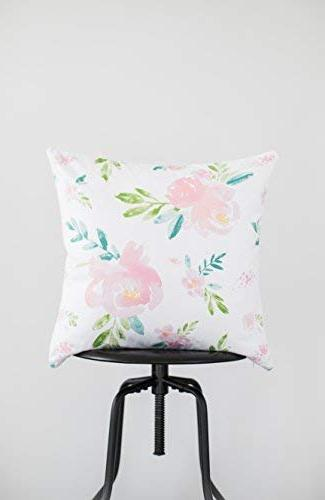 Woven Nook Pillow Covers ONLY for Couch, or Set of 18 x 18 Modern Floral