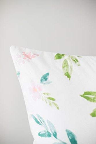 Woven Nook Pillow Covers ONLY Couch, Set x Quality Floral