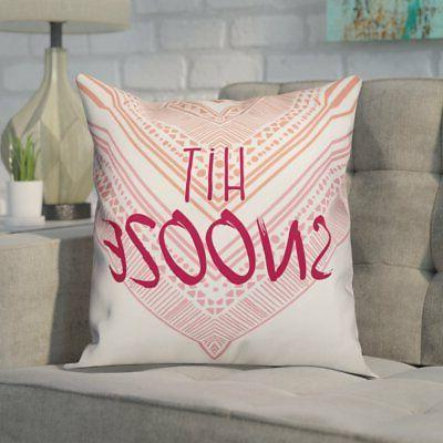 delucia hit snooze throw pillow