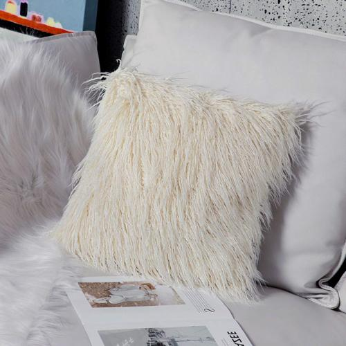 Ojia Home Super Mongolian Faux Fur Pillow 18