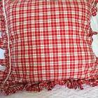 RALPH LAUREN DOCKSIDE RED PLAID LARGE PILLOW CASE WITH INSER