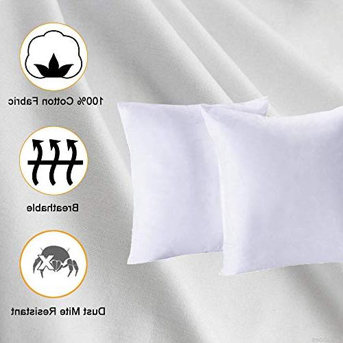 Homelike Moment Feather Pillow Insert Throw of 100% Cotton Fabric
