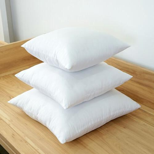 2Pack Down Feather Throw Pillow Insert Sham Hypoallergenic S