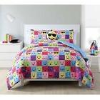 Emoji Reversible Bedding Comforter Set with Bonus Pillow & B