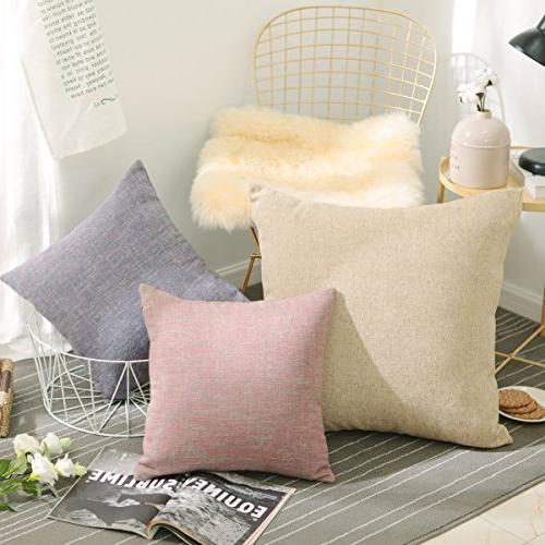 2 Pack Day Chenille Textured Couch Cushion Cases for Blossom