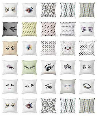 eyelash throw pillow cases cushion covers accent