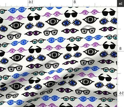 Eyes Cool Throw Pillow Cover w Optional Insert by
