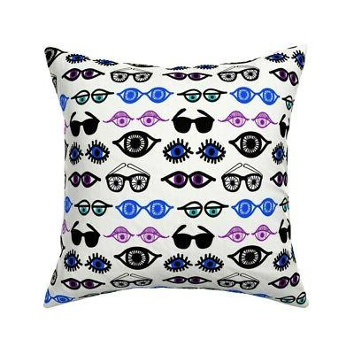 eyes peepers sunglasses cool throw pillow cover