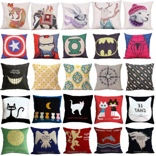 Print Sofa Home Decor Pillow Cushion Waist Bedroom Cover Thr