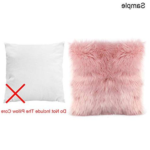 Ojia Faux Fur Pillow Cover Super Soft Plush Pillows Luxury Series Style
