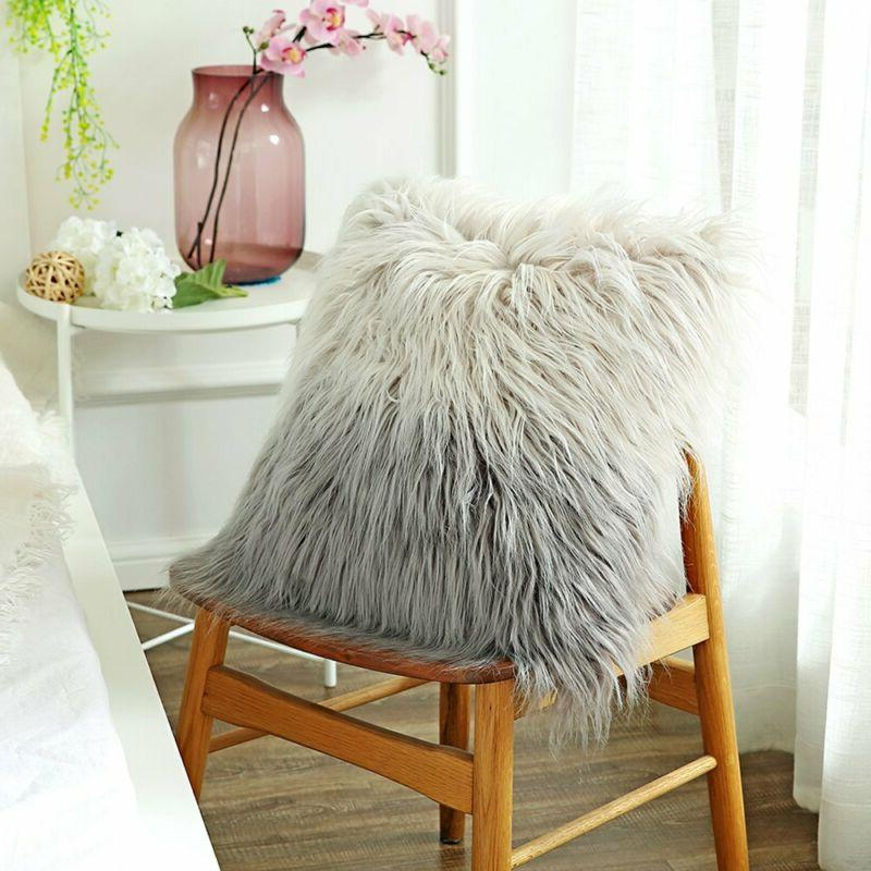 faux fur throw pillow covers deluxe home