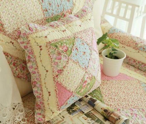 Floral Throw Pillow Shabby Chic Country