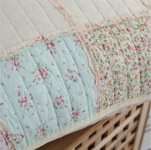 Floral Cotton Throw Shabby Chic Country