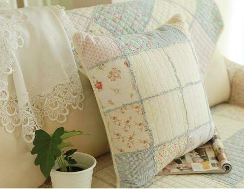 Floral Cotton Throw Pillow Cushion Shabby Chic Country
