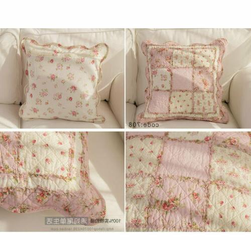 Floral Patchwork Throw Cushion Cover Shabby