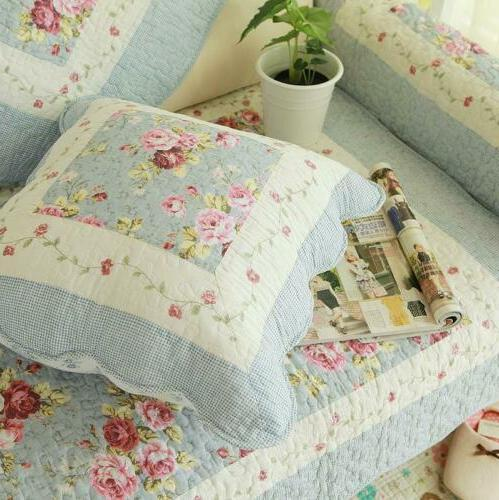 Floral Patchwork Throw Pillow Cushion Shabby Chic Country