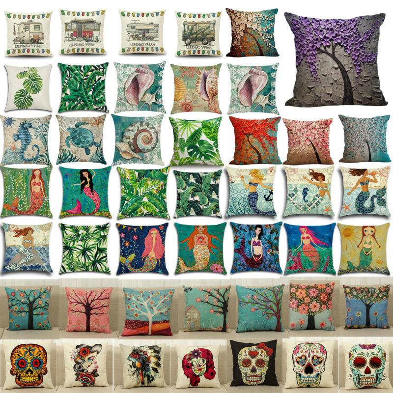 Vintage Throw Pillow Case Square Cushion Cover Sofa Car Couc