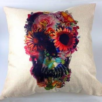 Witty Novelty Skull Pillow, soft
