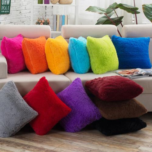 soft plush square pillow case sofa waist