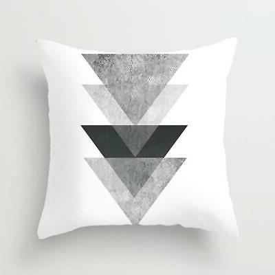 Geometric Cushion and Polyester Pillow Case
