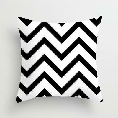 Geometric Black and White Throw Pillow Case